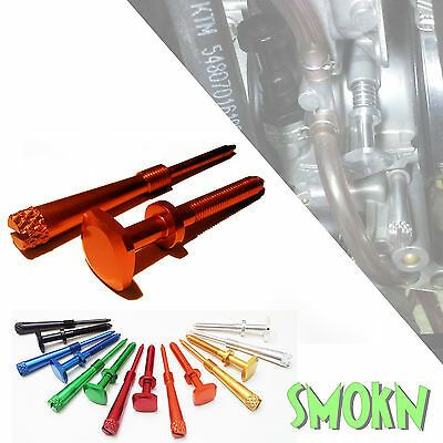 Easy Adjust Idle & Air Mixture Screws fits KTM 250 300 EXC XC Keihin PWK Orange