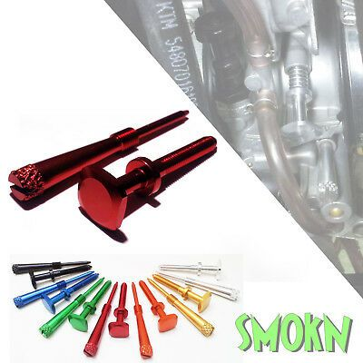 Honda CR 250 Keihin PWK Easy Adjust Idle Screw & Air Screw Set Red Anodised